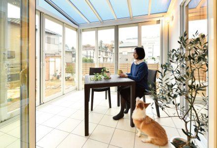 床下冷暖房で一年中快適 愛犬と暮らす自然素材の家